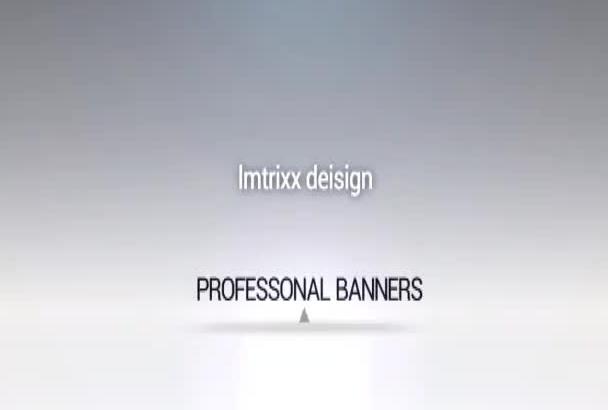 professional banner, facebook timeline or twitter