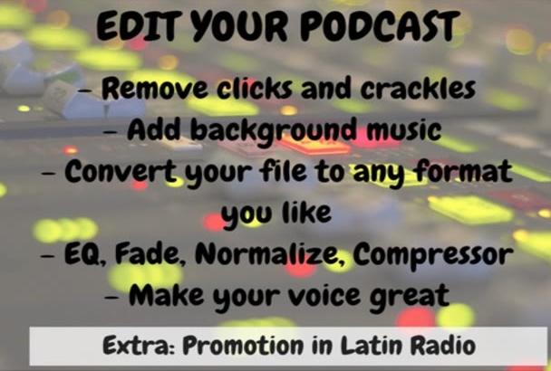 editar su podcast o programa y promocionar en mi radio