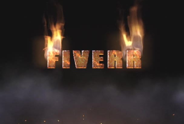 create an intro with logo on blazing fire