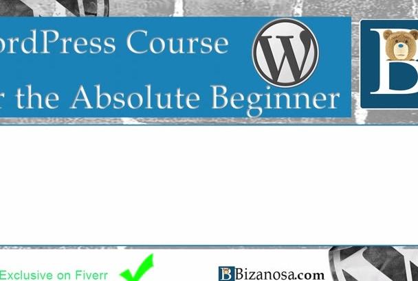 send you my  WordPress  tutorial for beginners