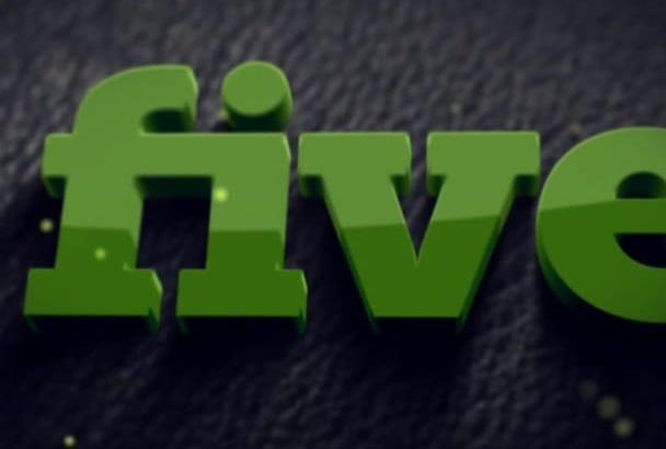 do awesome 3D logo Animation
