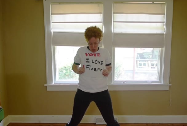 dance dressed as Napoleon Dynamite