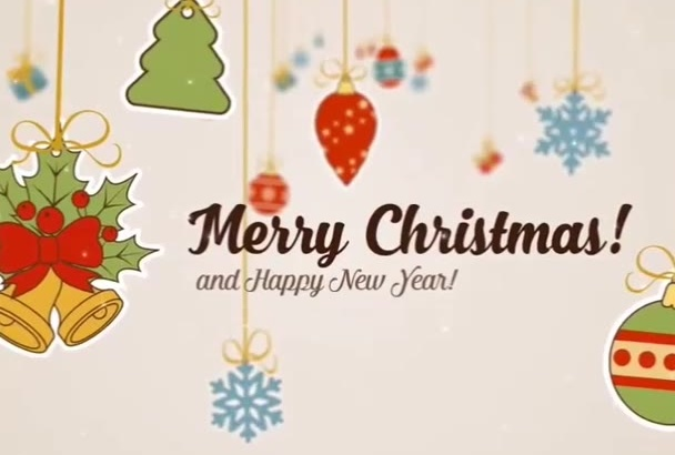 create a Christmas greeting video with remix song