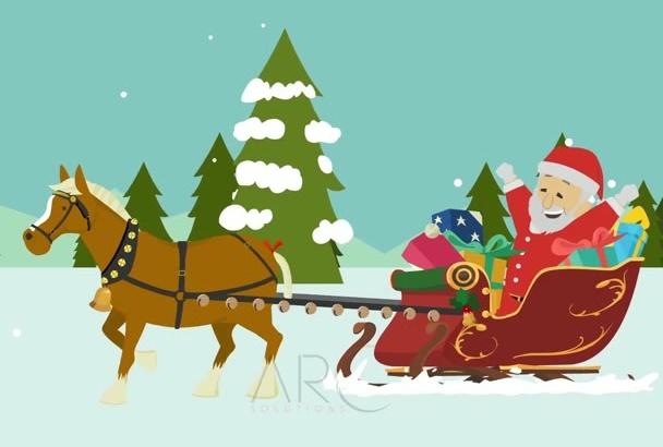 create custom CHRISTMAS video Animation