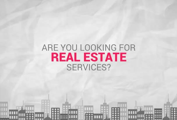 do this beautiful REALESTATE explainer video for you