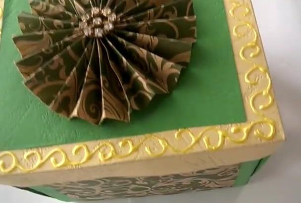 design greeting card of handmade Card box