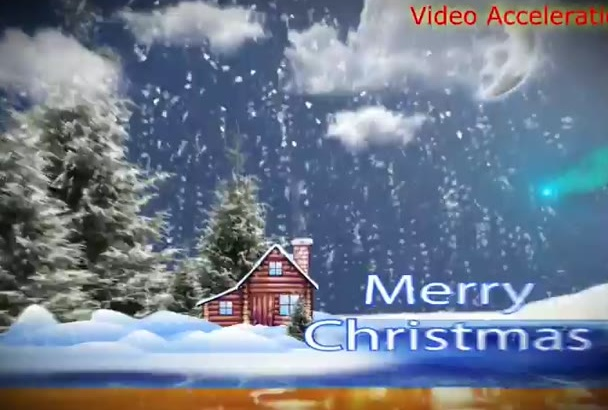 create 5 Christmas or happy new year greeting video