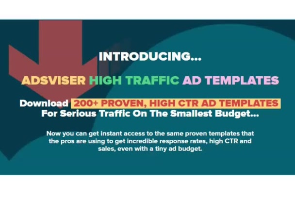 give you more than 200 proven High CTR Facebook Ad Templates