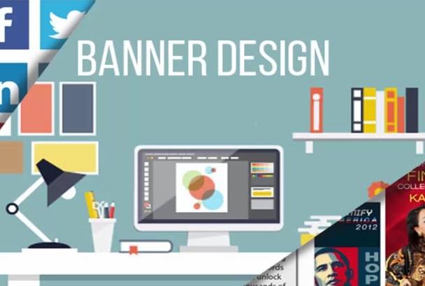 do Facebook COVER, Youtube Banner or Banner Design in 12 Hr
