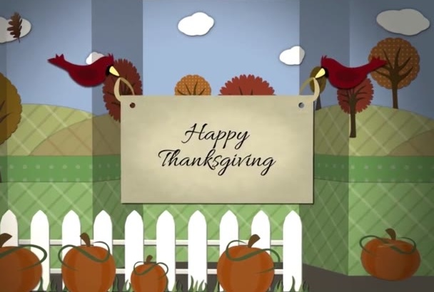 make Memorable Thanksgiving Video Greeting in 24 hours