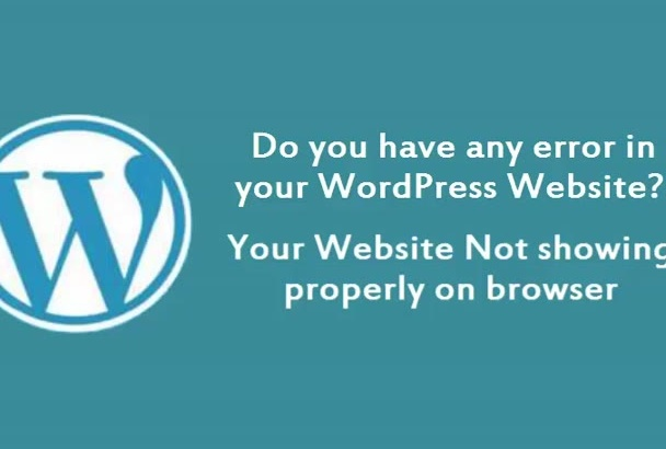 fix WordPress error or WordPress issue