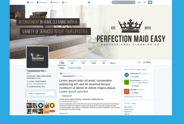 create a KILLER custom Twitter header cover