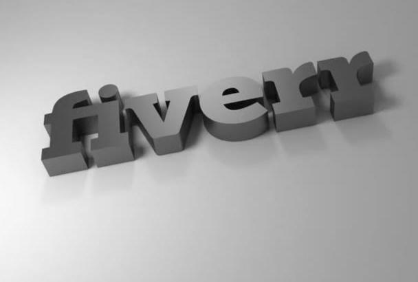 hacer su logo en 3D