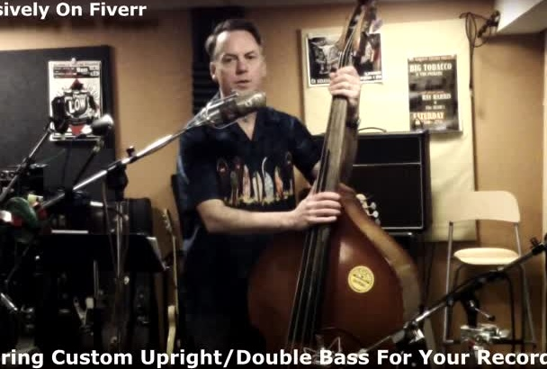 record upright bass or double bass for your song