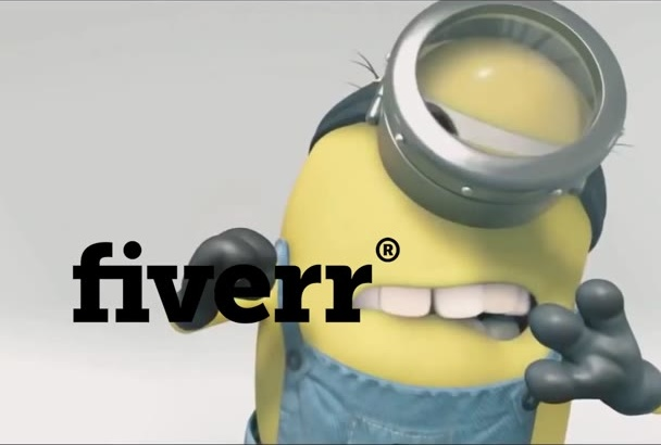 create a 3D funny  minions intro Full HD free