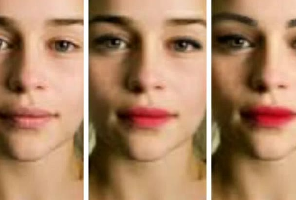 do different beautiful makeup effects on face