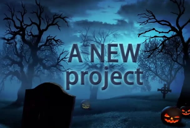 make an amazing halloween intro