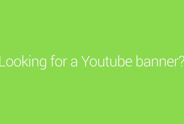 create a Youtube Banner  for your channel