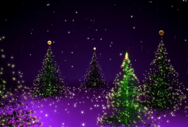 place your logo in this Christmas snowy forrest