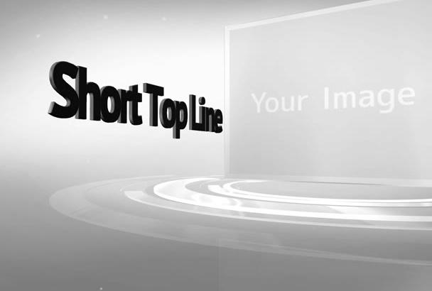 create this Simple Elegant White 3D Intro