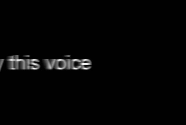 do Professional Voice Overs