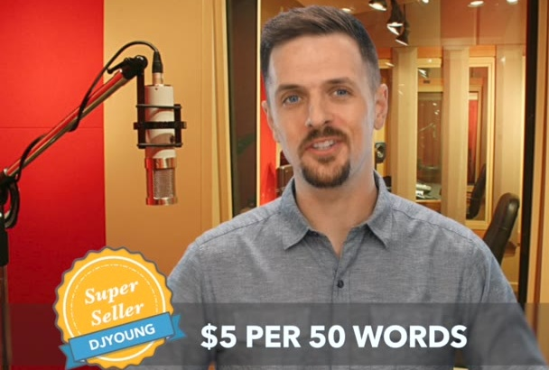 record a radio quality professional male voiceover