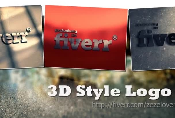 make Simple 3D mockup of Your Logo
