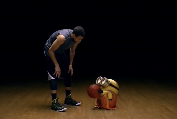 put your text and logo in this minion basketball funny video