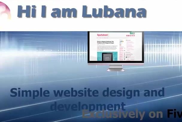 develop bootstrap  responsive website
