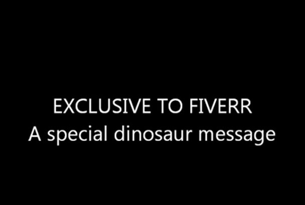 record a message as  kids favorite Barney the dinosaur