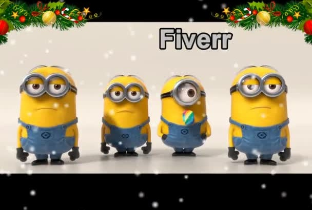 make a Christmas Video with Funny Minion