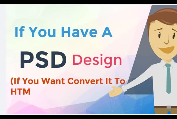 convert your psd to html with Responsive