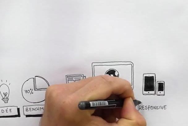 draw kick ass explainer videos by hand for you