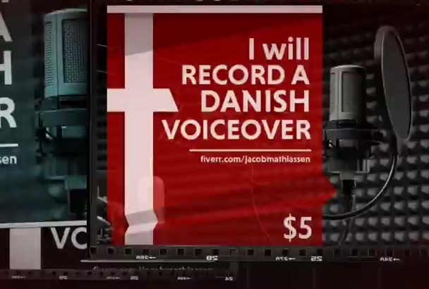 record a High Quality Danish Voice Over