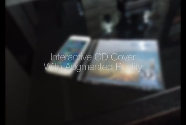 create an interactive CD cover with augmented reality