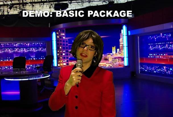 make a video message as a news anchor