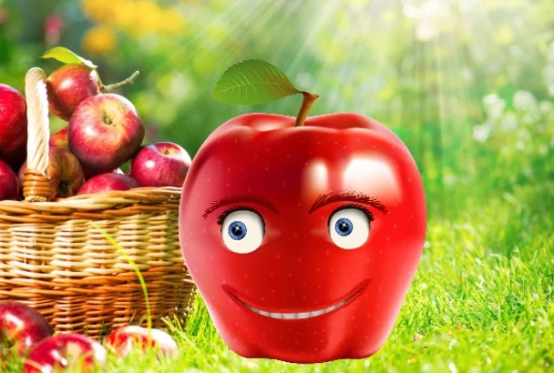 create funny fruit talking animation video