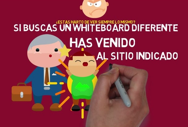 hacer un video whiteboard profesional a todo color