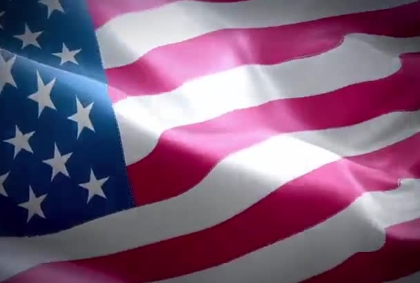 any FLAG Waving video, Greeting Message Text Logo