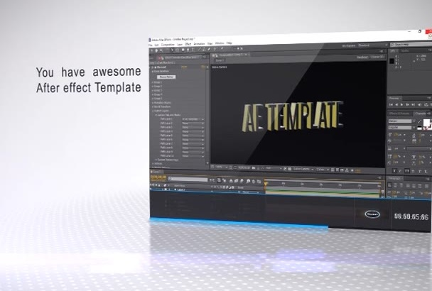 edit any after effect template for you