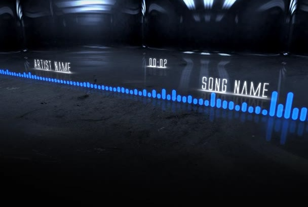 make a realistic music visualization of your song