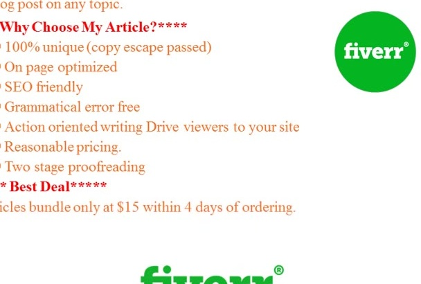 write 500 to 550 Word SEO Friendly Article On Any Topic