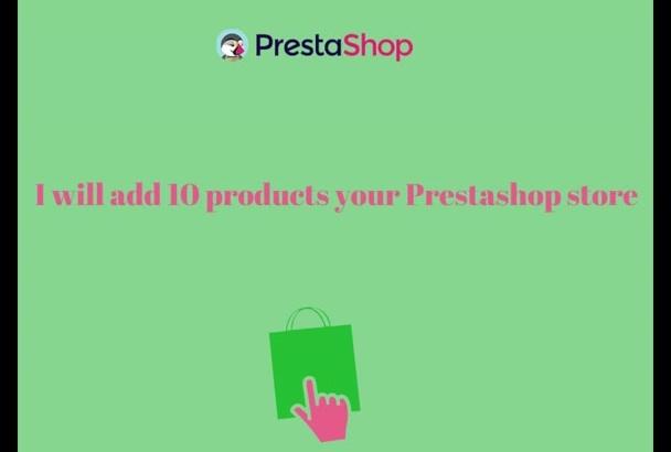 add 10 products Prestashop store