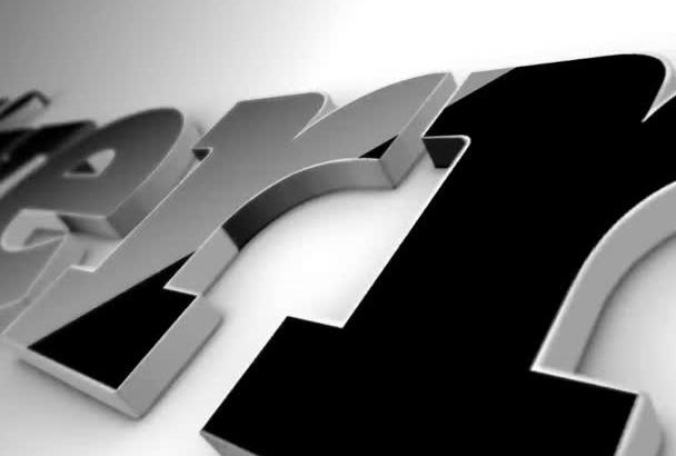 create CLEAN 3D corporate elegant simple logo Reveal