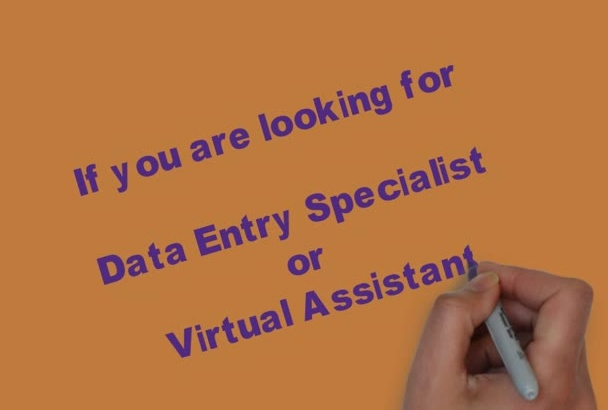 do 4 hours EXPERT data entry work,Virtual Assistant