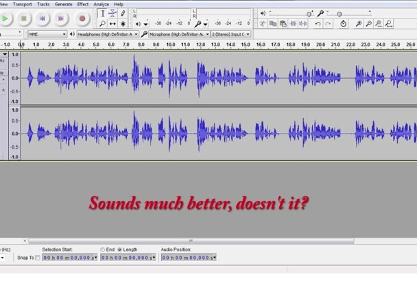 clean up the audio on your podcast or video