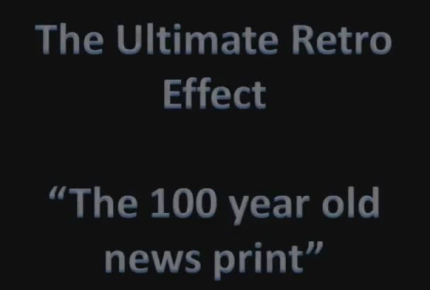turn your photo into a 100 year old news print