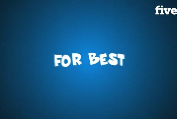 make Customized Animated Video