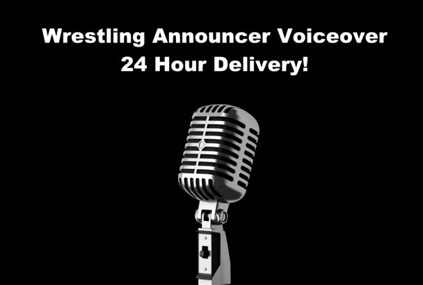 record anything as a wrestling announcer