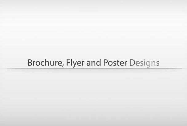 design professional and unique brochure or flyer